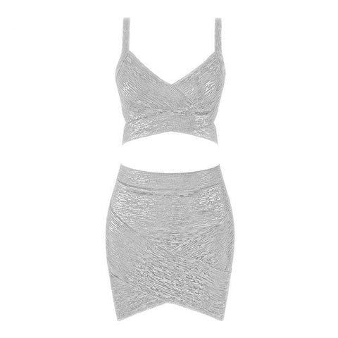 Dazzling 2 Piece Bodycon 2 Piece Set