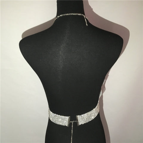Party Ready - Ultra Glam Sparkling Rhinestone Backless Cami Top