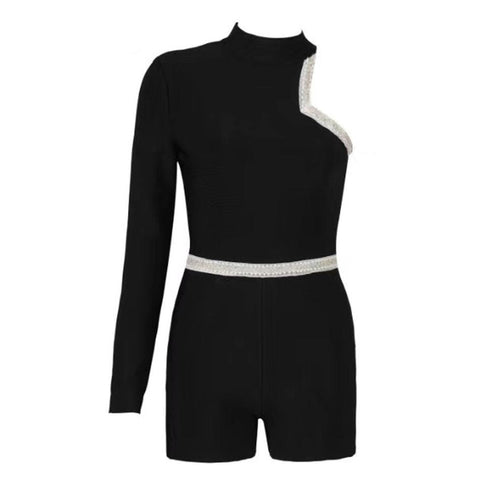 Image of Full Sleeve Bandage Jumpsuit