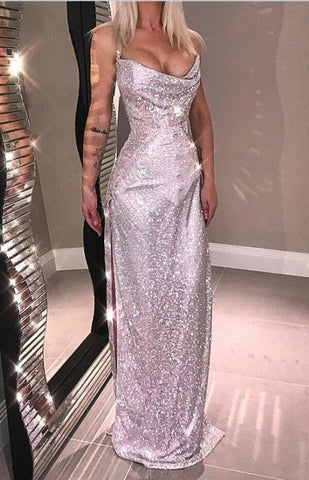 Image of Lucille - Sexy Rhinestone Maxi Dress