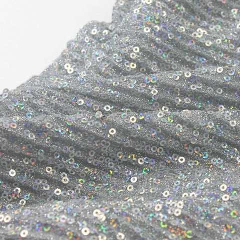 Diamond Vibes - Glitzy Sequined Strapless Bow Dress