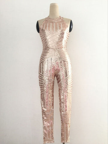 We Shining - Stunning Sequined Open Back Jumpsuit
