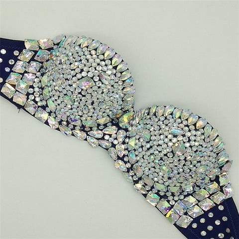 Image of Exquisite Sparkling Rhinestone Bra Top