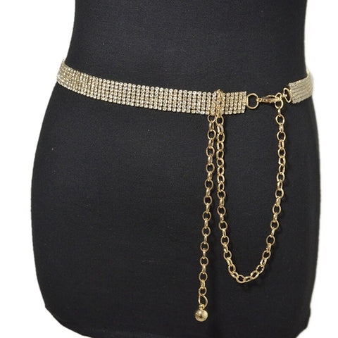 Image of Luxury Rhinestone Crystal Diamond Waist Chain Belt