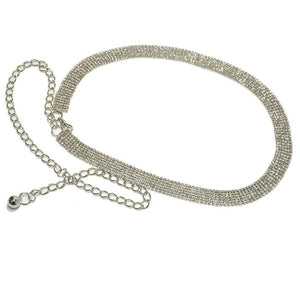Luxury Rhinestone Crystal Diamond Waist Chain Belt