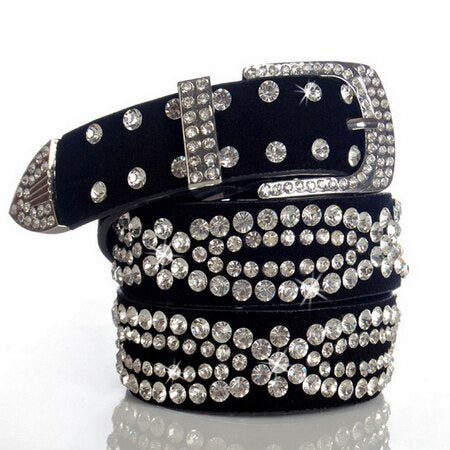 Image of Glitzy Studded Leather Belt