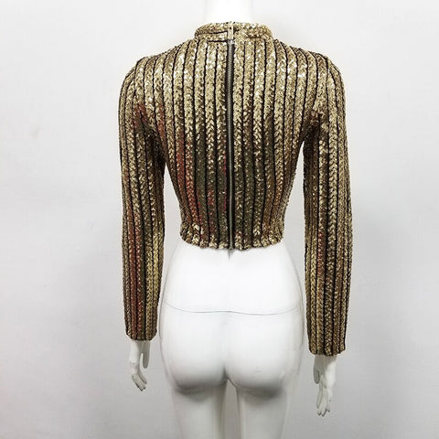 Glittering Sequined Bandage Top