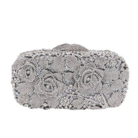 Casablanca - Dazzling Gold Crystal Rhinestone Evening Bag