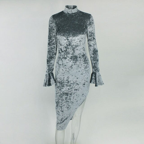 Paparazzi Range - Glitzy Turtleneck Shiny Bodycon Dress
