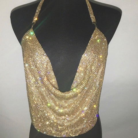 Viera - Glitzy Diamond Sequined Sparkling Top