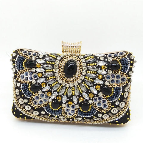 Image of Calabria - Exquisite Sparkling Crystal Beaded Evening Clutch Bag