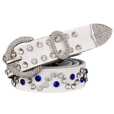 Image of Exquisite Genuine Leather Luxury Studded Belt