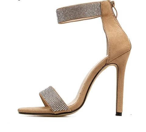 Image of Haute Couture Range - Sparkling Diamond Thin Strap Heels