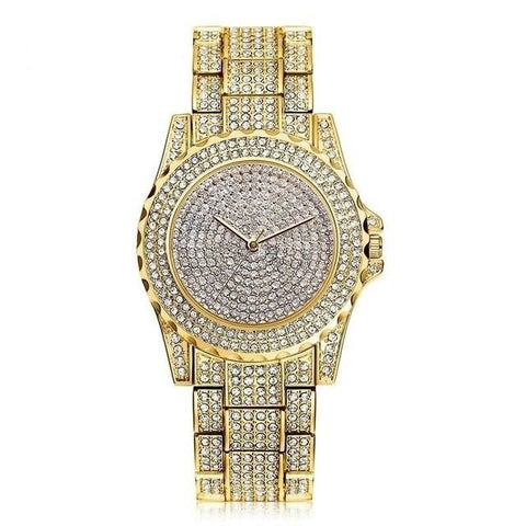 Exquisite Sparkling Crystal Diamond Quartz Watch