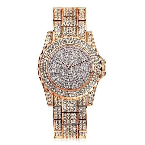 Image of Exquisite Sparkling Crystal Diamond Quartz Watch