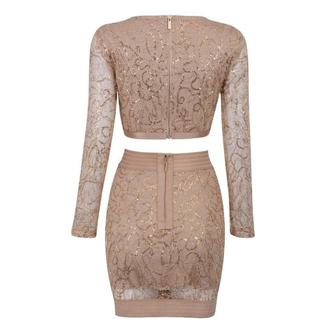 Astacus - Dazzling Bodycon Bandage 2 Piece Set