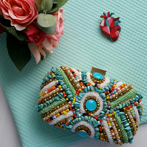 Rhapsody -  Vintage Bohemian Beaded  Evening Bag Handbag