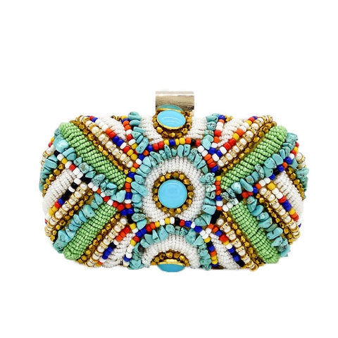 Image of Rhapsody -  Vintage Bohemian Beaded  Evening Bag Handbag
