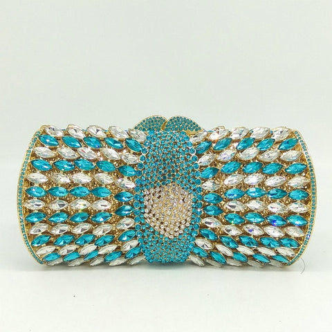 Naples - Exquisite Crystal Embellished Sparkling Diamond Evening Clutch Bag