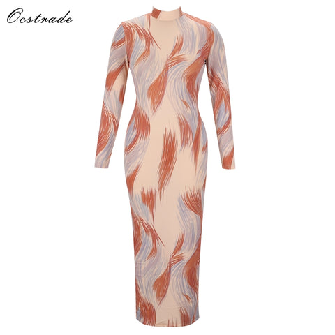 Paparazzi Range - Elegant Full Length Maxi Bodycon Dress