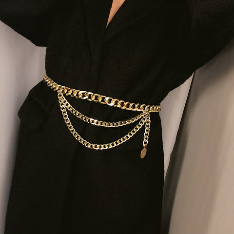 Tassel Gold Chain Belt