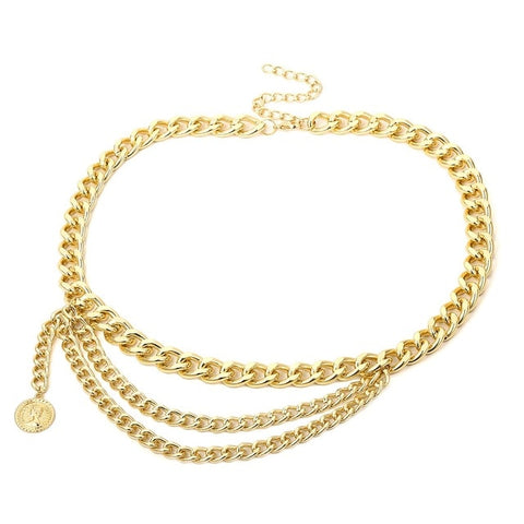 Image of Tassel Gold Chain Belt