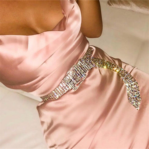 Image of Bella Vista - Bling Gold/Silver Full Rhinestone Diamante Waist Belt