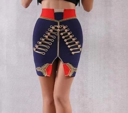 Military Range - Stunning Tight Fitting Bodycon Bandage Skirt