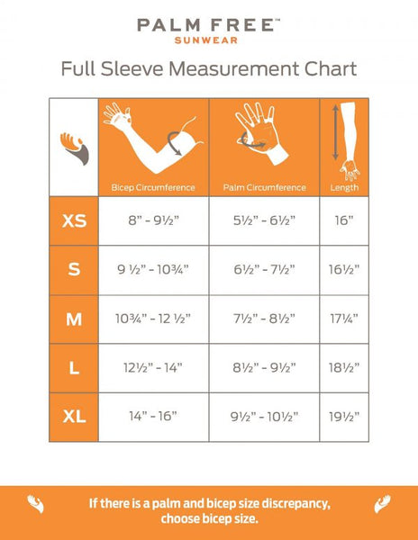 Full Sleeve Measurement Chart Inches