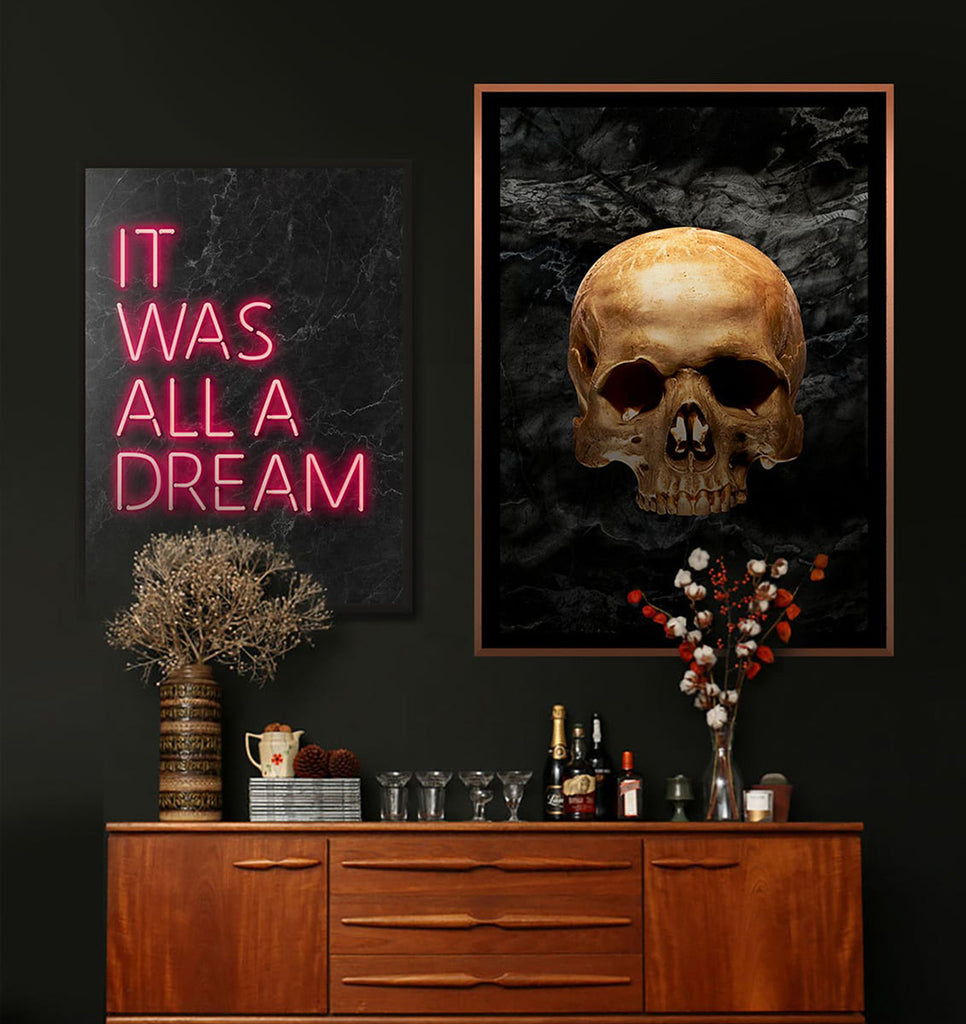 It Was All A Dream Skull Print