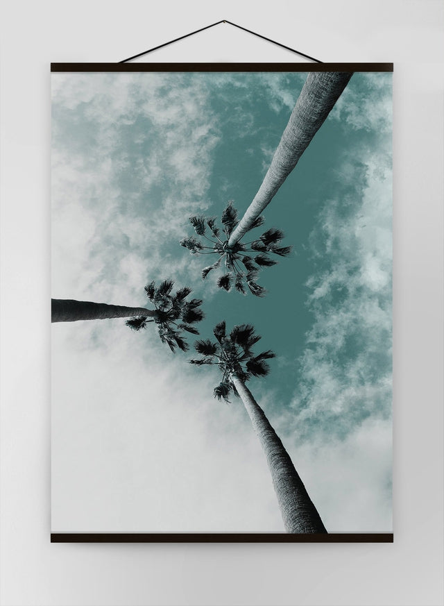 3 Palm Trees Perspective Canvas