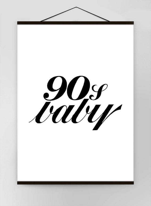 90S Baby Quote Canvas