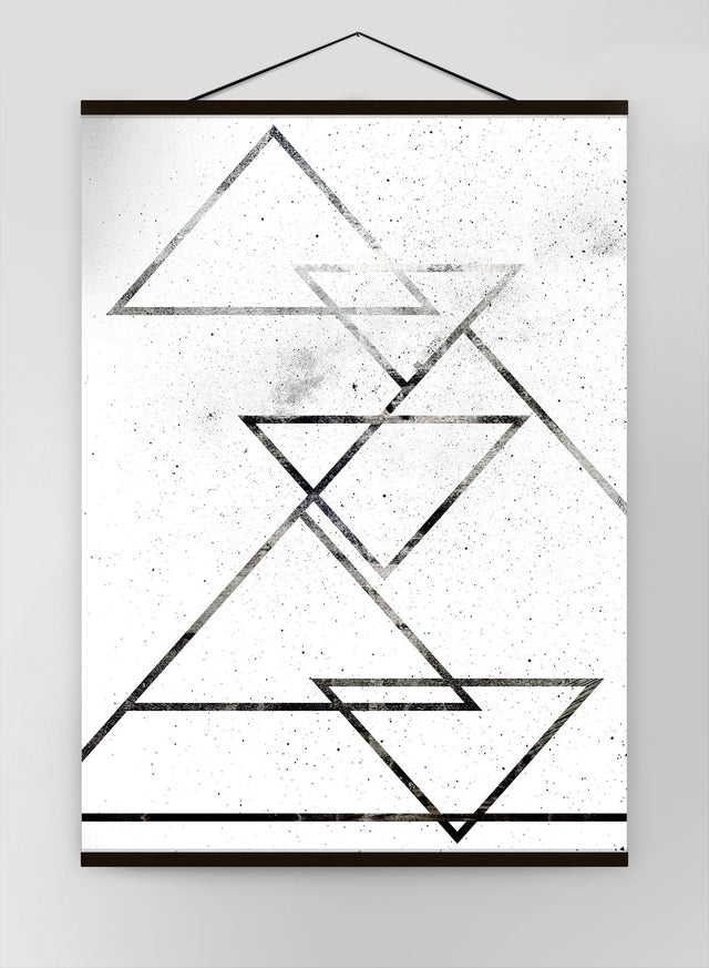 Black Triangles Canvas