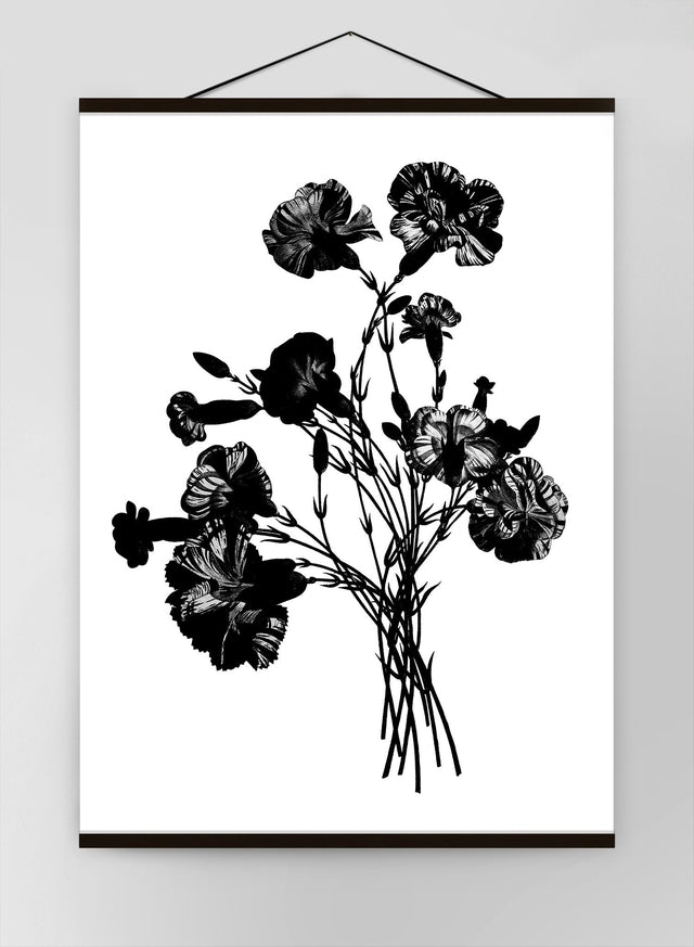 Black And White Vintage Bouquet 1 Canvas