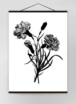 Black And White Vintage Bouquet 3 Canvas