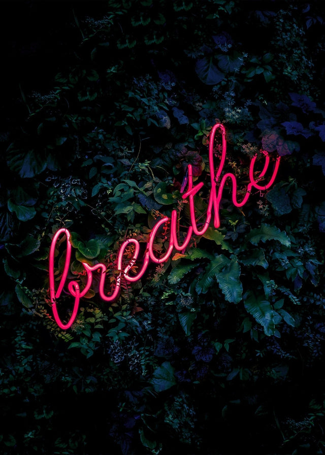 Breathe Neon Sign Canvas