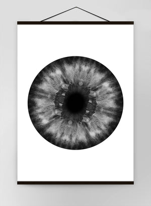 Eyeball Black And White 1 Canvas