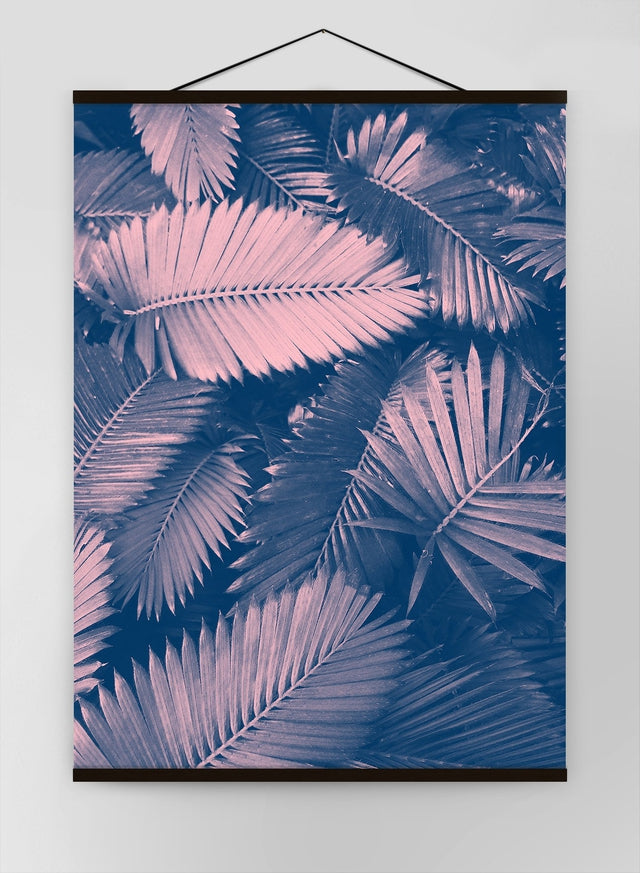 Foliage Pink And Blue Canvas