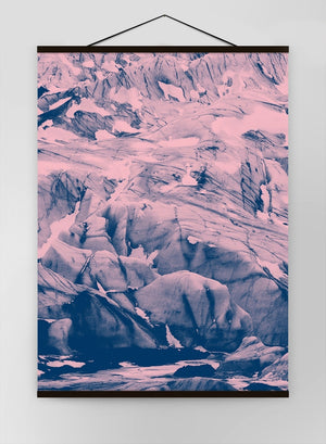 Glacier Pink And Blue Canvas