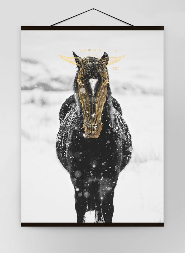 Gold Horse Canvas