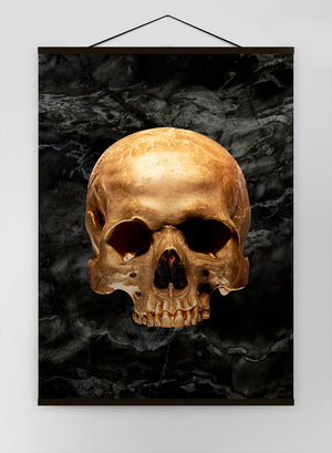 Gold Skull Marble Canvas