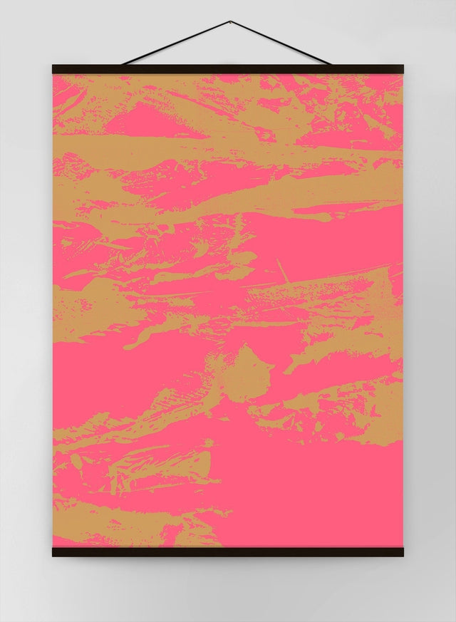 Inky Pink And Gold Graffiti Canvas