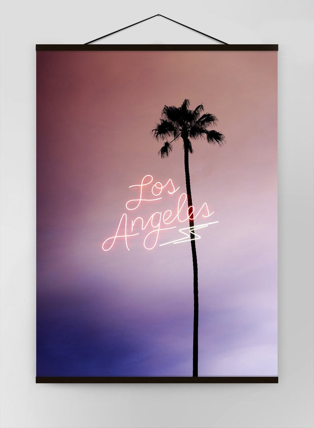 Los Angeles Palm Tree Neon Canvas