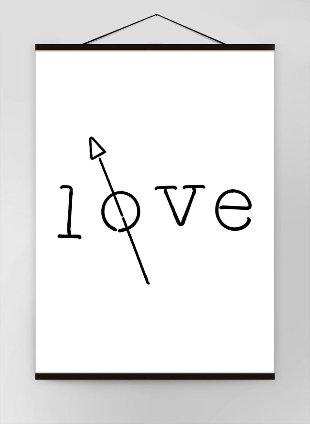 Love Typography Canvas
