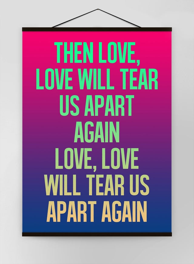 Love Will Tear Us Apart Lyrics Gradient Blend Canvas