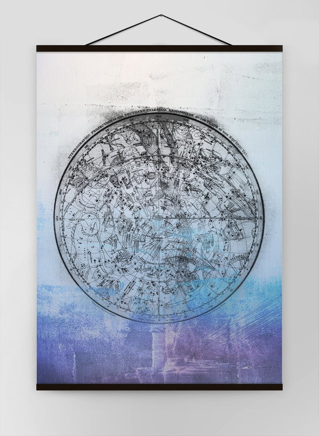 Nautical Map Blue Blend Canvas