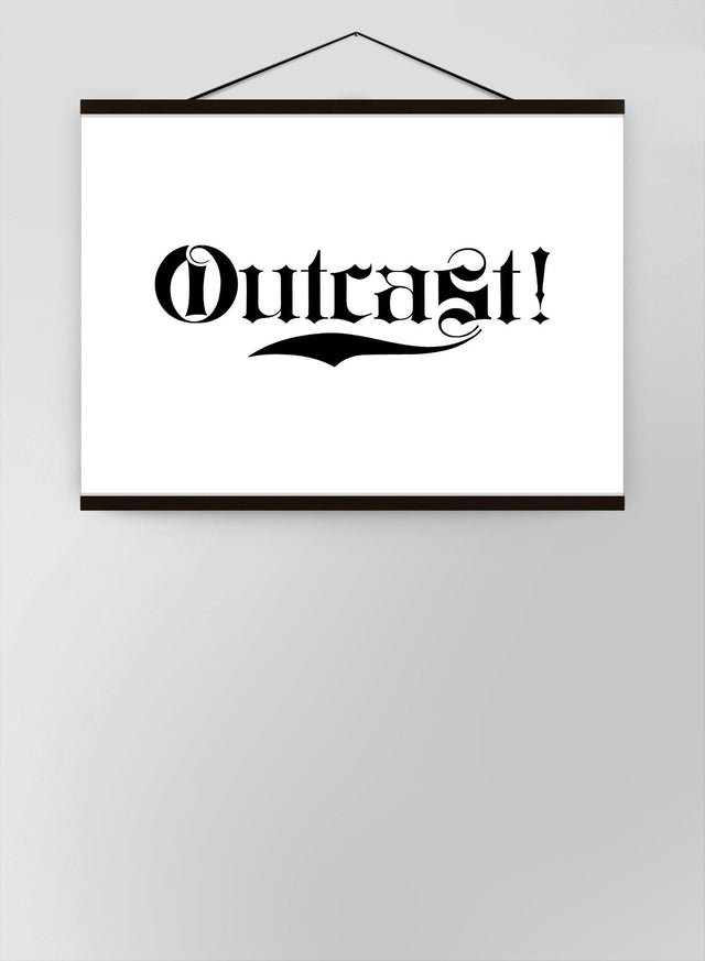Outcast Typography Canvas
