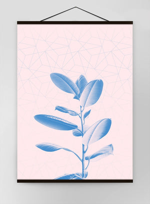 Plant Geometric Pink Blend Canvas