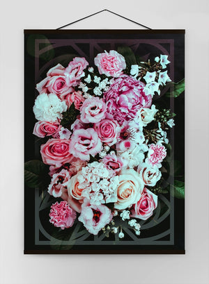 Roses Geometric Canvas