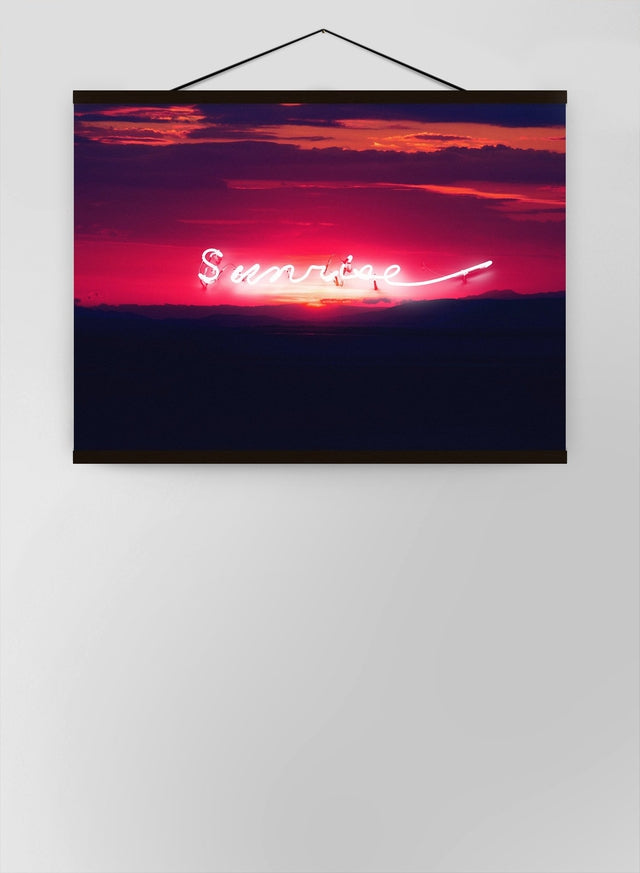 Sunrise Neon Landscape Canvas